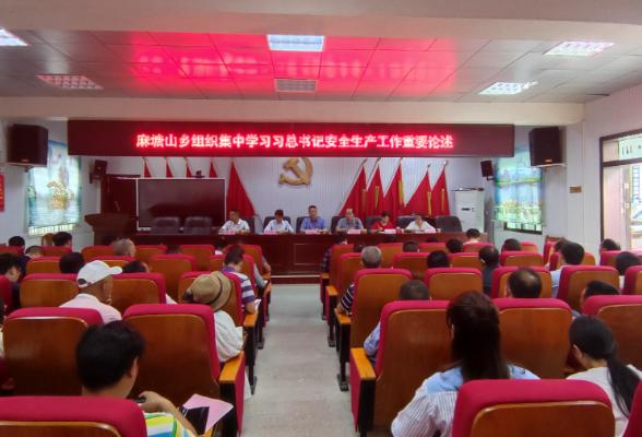麻塘山乡召开集中学习习近平总书记关于安全生产工作重要论述会议