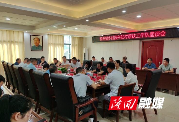 鸭田镇组织开展乡村振兴驻村帮扶工作队座谈会