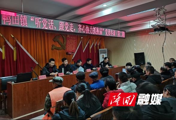 鸭田镇:开展党员冬训教育 压实换届纪律红线