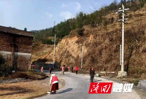 大水田乡龙腾村积极开展卫生清洁志愿服务活动