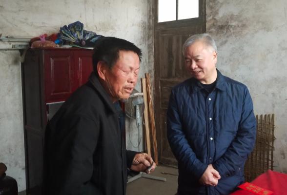 【新春走基层】蒋伟到高平镇上坪村走访慰问困难群众