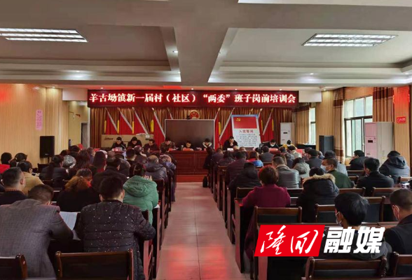 """羊古坳镇举行新一届村""""两委""""班子岗前培训"""