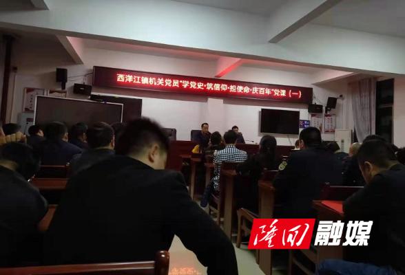 西洋江镇党史学习教育第一讲开课