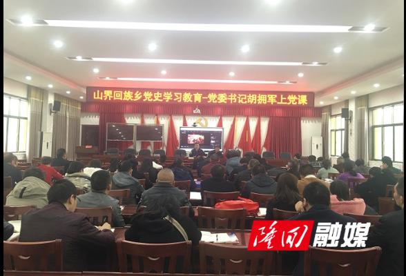 山界回族乡组织召开党史学习推进会议