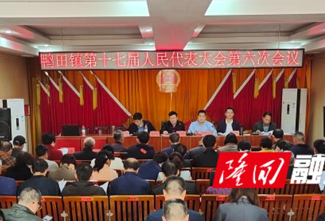 鸭田镇召开第十七届人民代表大会第六次会议