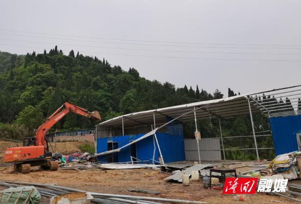 南岳庙镇开展土地违法整治行动
