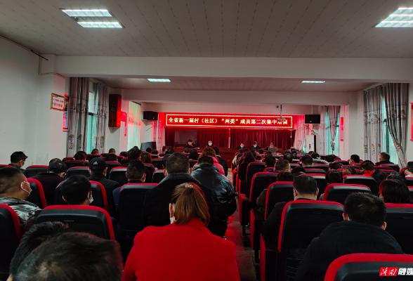 """荷香桥镇组织开展新一届村(社区)""""两委""""成员第二次集中培训"""
