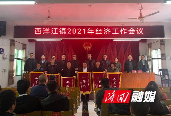 西洋江镇召开经济工作会议