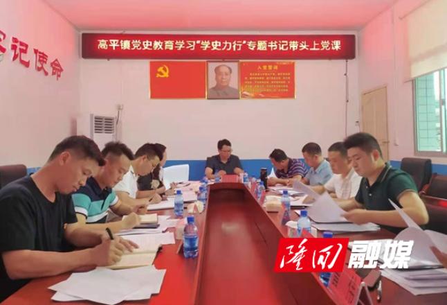 """高平镇开展党史学习教育""""学史力行""""专题党课"""