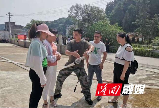 高平镇开展村级应急救援演练