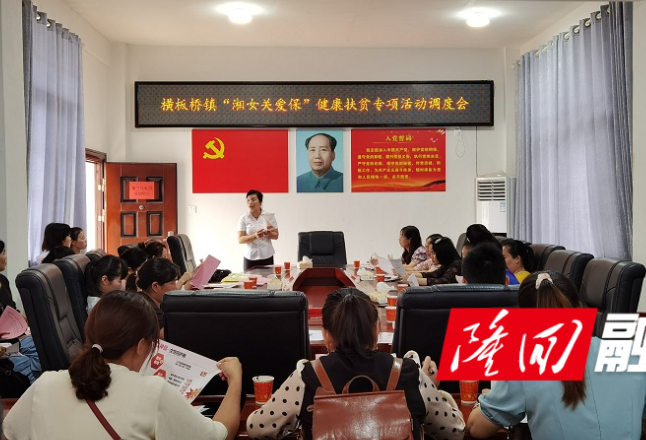 """横板桥镇召开""""湘女关爱保""""健康扶贫专项活动调度会"""