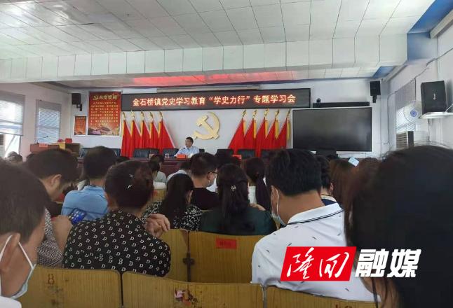 """金石桥镇召开党史学习教育""""学史力行""""专题学习会"""