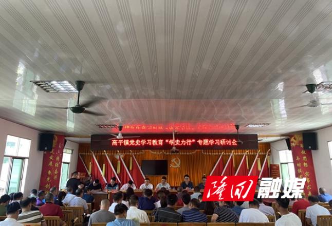 """高平镇开展党史学习教育""""学史力行""""专题学习研讨会"""