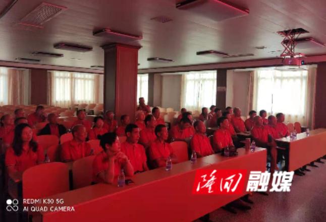 金石桥镇金桥社区组织集中收看庆祝中国共产党成立100周年大会直播