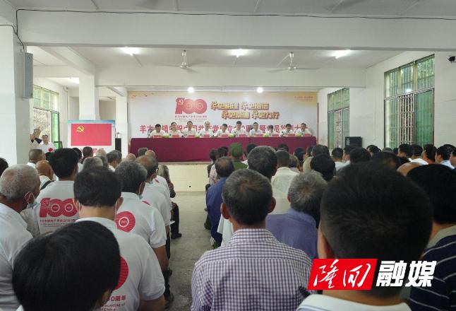 羊古坳镇召开庆祝建党100周年暨党员轮训大会