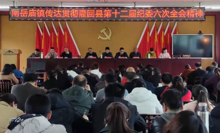 南岳庙镇传达贯彻隆回县第十二届纪委六次全会精神