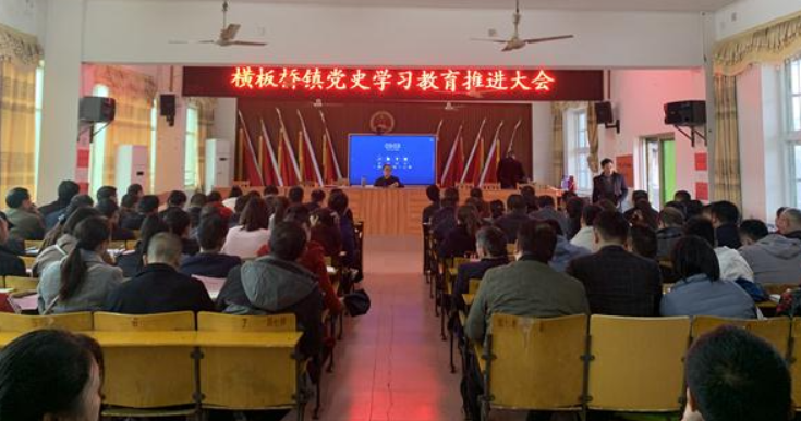 横板桥镇召开党史教育推进大会