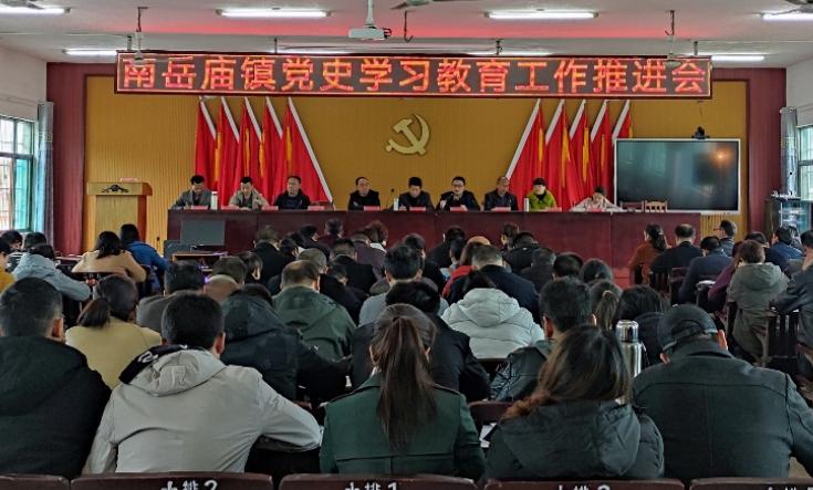 南岳庙镇召开党史学习教育工作推进会