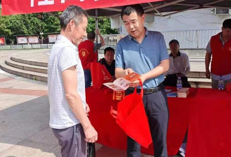 隆回县自然资源局组织开展第十三个全国防灾减灾日宣传活动