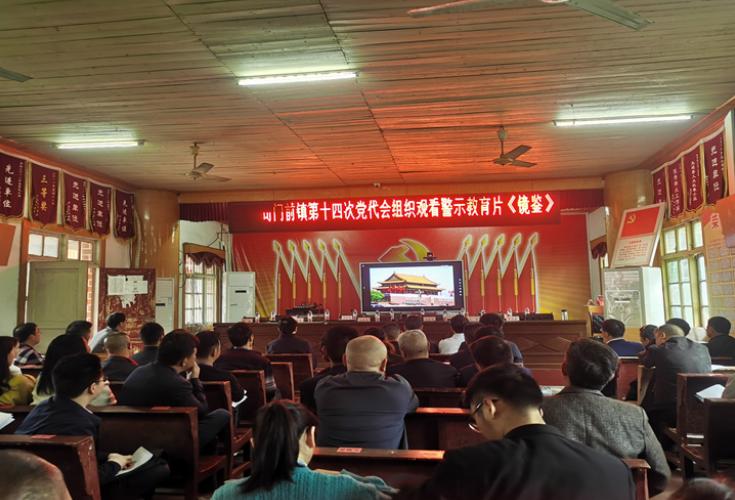 隆回县司门前镇组织观看警示教育片《镜鉴》