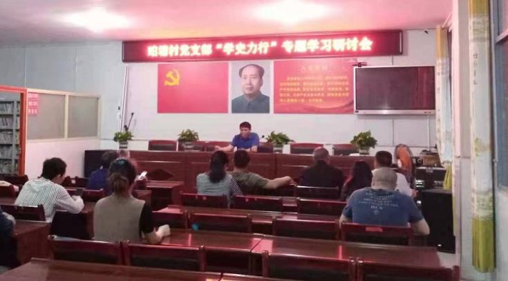 """金石桥镇珀塘村举行""""学史力行""""专题学习研讨会"""