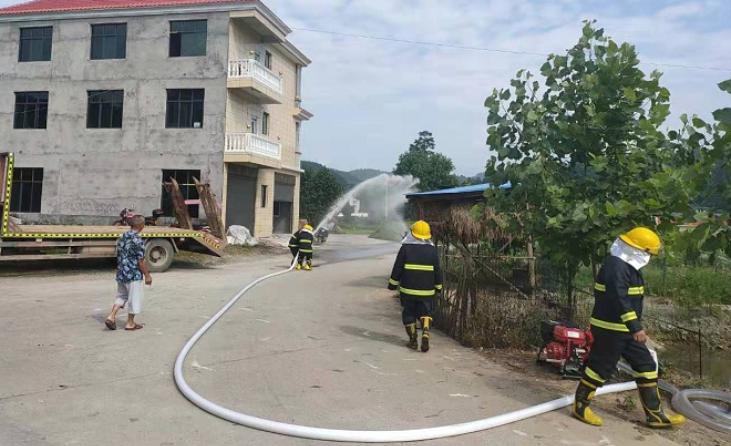 横板桥镇全面开展消防应急演练