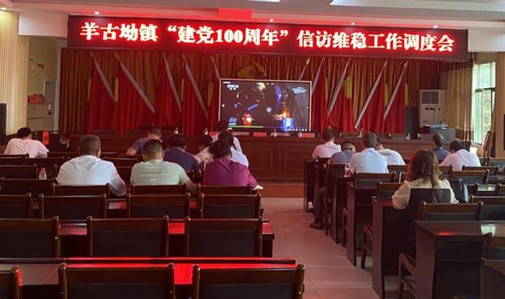 """羊古坳镇召开""""建党100周年""""信访维稳工作调度会"""