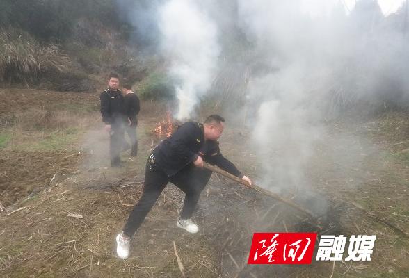 西洋江镇执法队及时制止一起秸秆焚烧行为