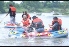 北盛镇卓然村新推漂流项目,激发乡间经济活力
