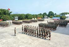 浏阳334名预定新兵完成役前训练