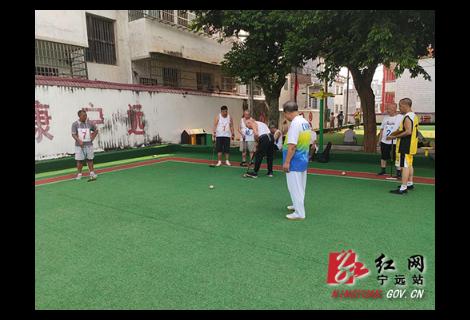 """庆""""八一"""":宁远县举办复员退伍军人门球赛"""