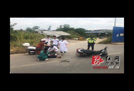 """宁远县人民医院""""120""""快速救助车祸伤员"""