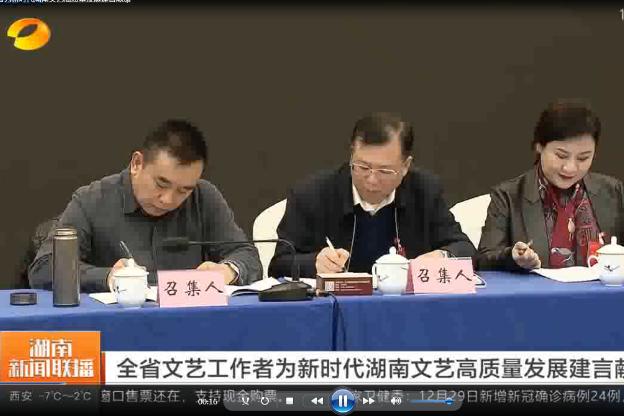 全省文艺工作者为新时代湖南文艺高质量发展建言献策