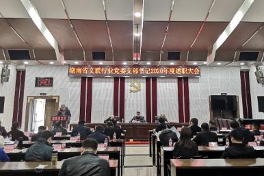 省文联行业党委召开社会组织党支部书记2020年度述职大会