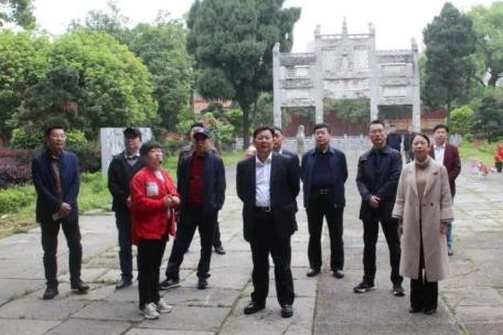 中国书协副主席、湖南省文联主席、省书协主席鄢福初到宁远调研