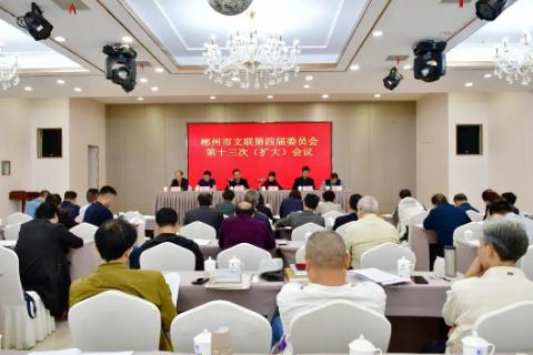 坚定文化自信 彰显文艺力量——郴州市文联第四届委员会第十三次(扩大)会议召开